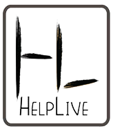 helplive black line logo